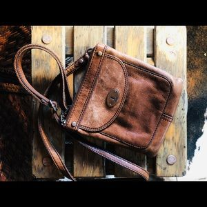 Classic 100% leather fossil Crossbody bag